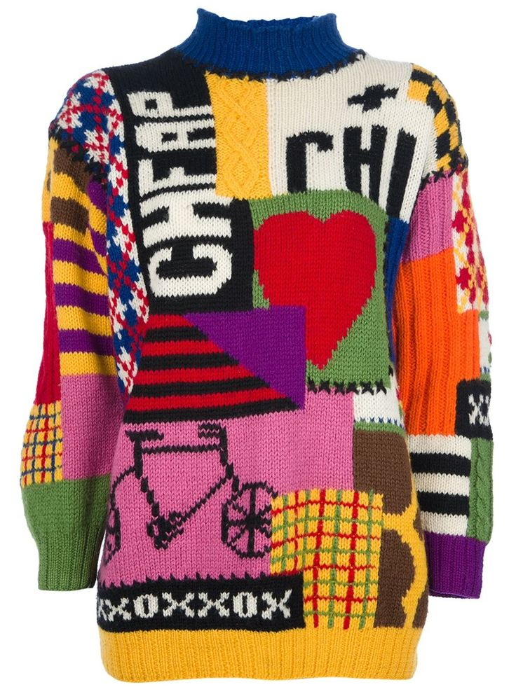 Moschino Vintage - graphic print sweater