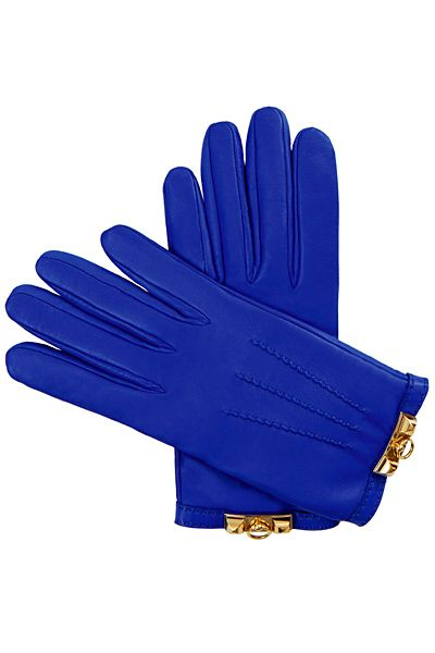 Hermès cobalt blue gloves