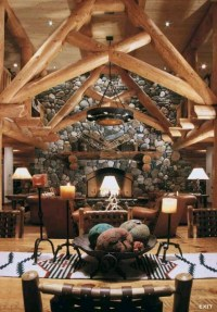 Beautiful log cabin living room. | Decor for our new home ...