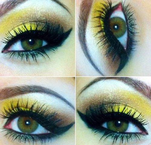 Many artists are using a bold yellow this Spring.  I am not sure that it is the right color for my skin tone.  This may be an option!