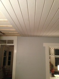 Tongue and groove pine over old ceiling. | House ...