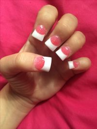 acrylic nails. pink and white. | Nails | Pinterest
