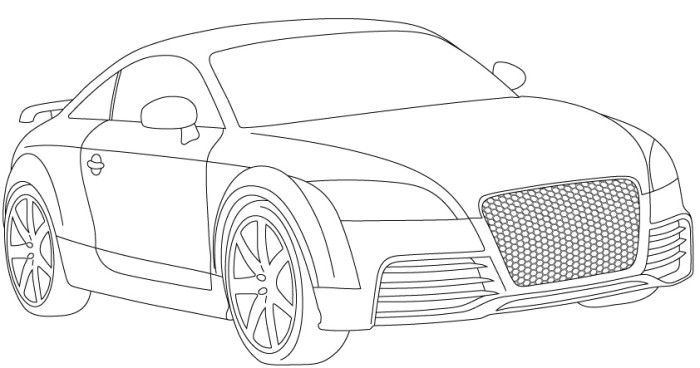 Free audi r8 coloring pages