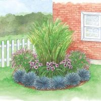 Corner Grass Garden | garden | Pinterest