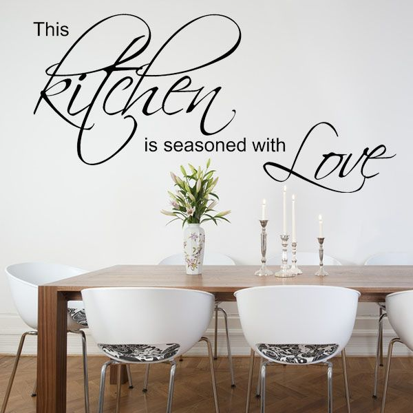 This Kitchen is Seasoned with Love  Wall sticker  decals