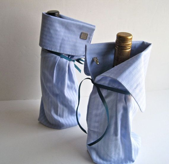 Shirt sleeve wine bottle bag #DIY