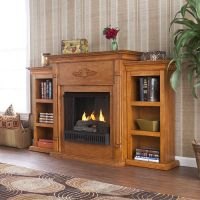 Electric Fireplace with Cabinet Bookcases Mantel, TV/Media ...