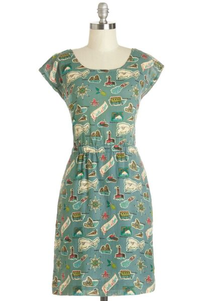 Map Happy Dress $92.99 by Nice Things from Modcloth