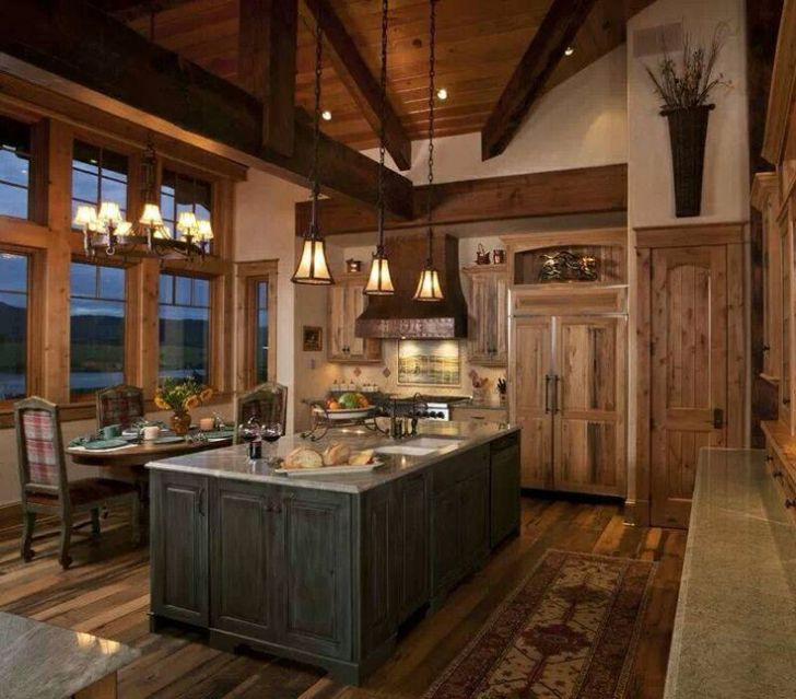 Lovely Cabin Kitchen Ideas