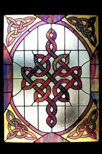 Celtic Stained glass window | Stained Glass | Pinterest