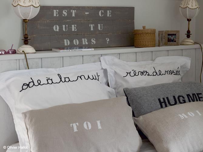 #lit #oreiller #coussin #mots #odealanuit