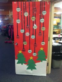 Christmas teacher door decoration