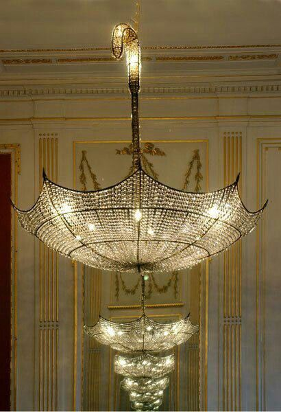 Umbrella chandellier! This needs to be in my house!!!