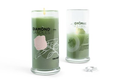 Candles With Rings Inside Of Them