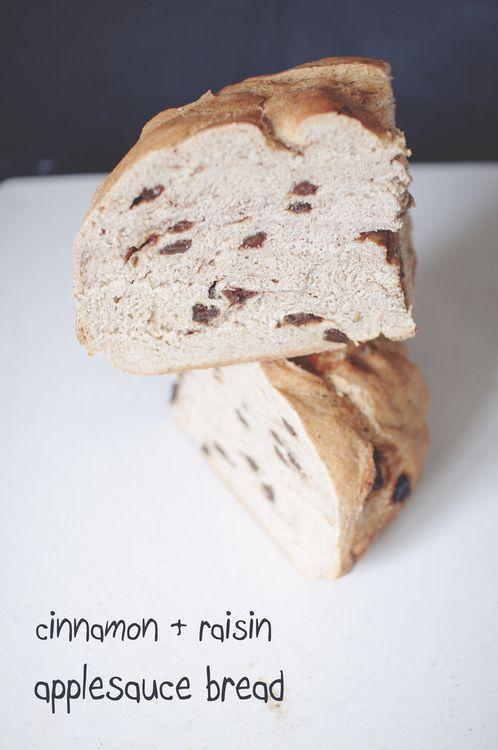 cinnamon raisin applesauce bread breads pinterest