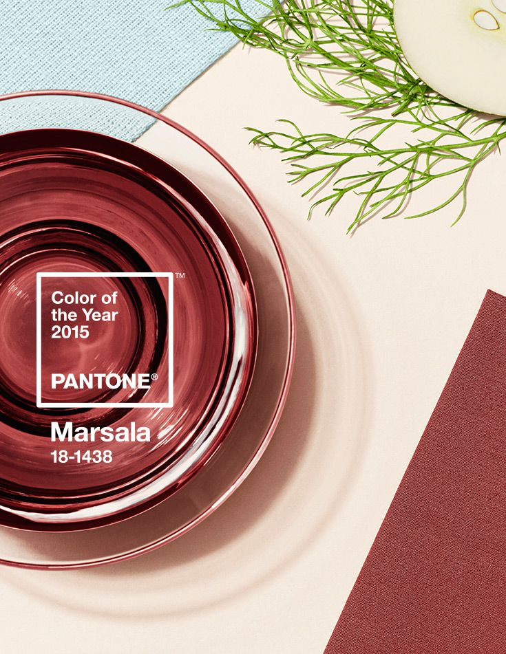 No longer just something you eat or drink. Marsala is now Pantone Color of the Year for 2015. @pantonecolor