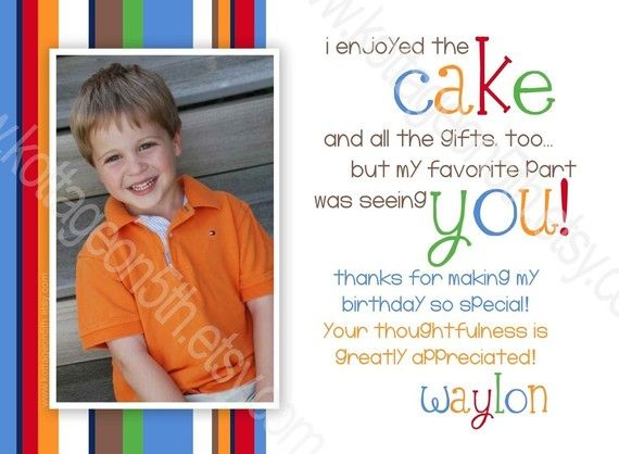 Thank You Card Wording! First Birthday Pinterest