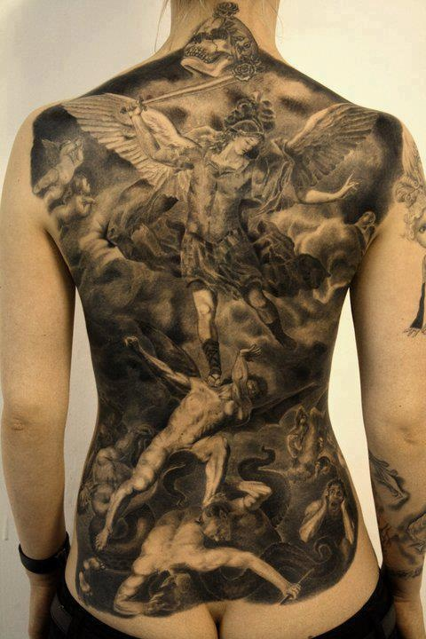 angels . demons tattoos