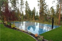 Landscaping around a basketball court | backyard | Pinterest