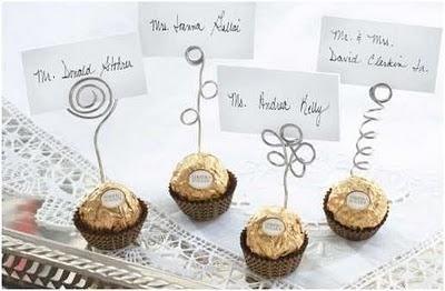 poner el nombre de los invitados en la mesa de forma original
