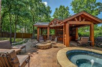 Hot Tub, Fire Pit and Pool Kitchen | Landscaping | Pinterest