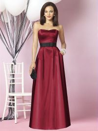 garnet and black bridesmaids dress | The day I wear White ...