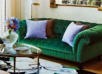 Emerald Green Sofa | Decorao na Cor Verde | Pinterest