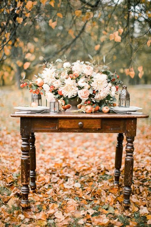 Fall Ideas and Inspiration Gorgeous Fall Florals!  Fall In Love with Fall- Fall Inspiration Pics  Frosted Events  www.frostedevents.com