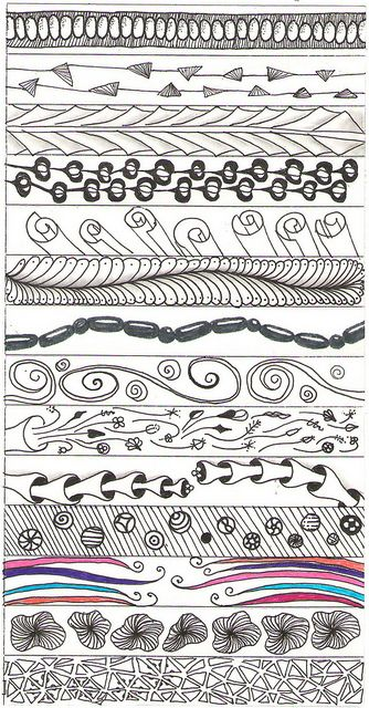 doodle zentangle patterns by Claudia Schulz http://about.me/claudia_scholz http://www.flickr.com/photos/scholz/sets/72157626656858175/with/5917888602/ #art #doodling