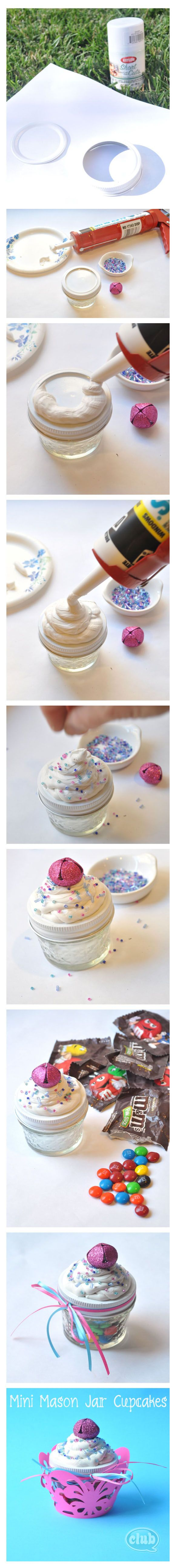Mini Mason jar cupcakes
