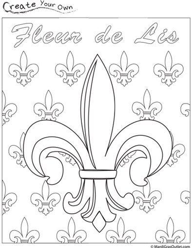 Fleur Mardi Templates Lis Gras Printable De