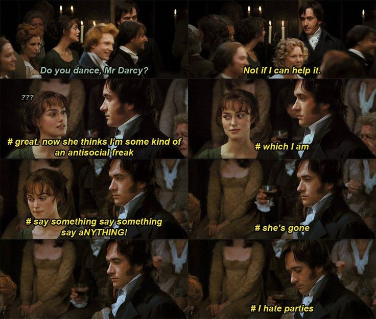 Pride and Prejudice Darcy Inner Struggles