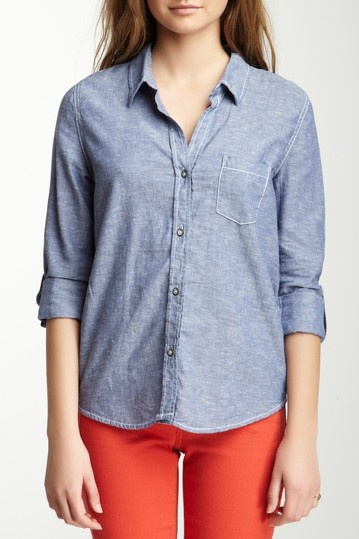 {Chambray Top} DKNY Jeans - classic