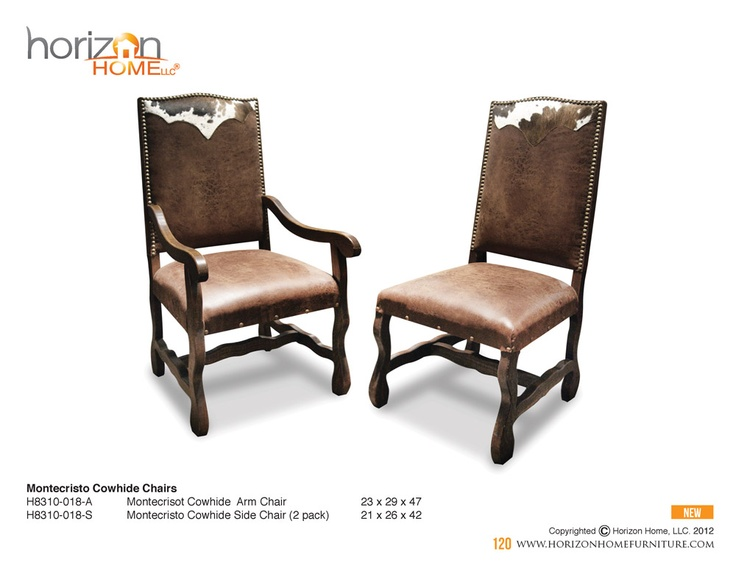 cowhide dining chairs  Dining Rooms  Pinterest