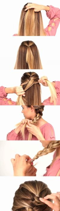easy way to french braid your own hair | Hair | Pinterest