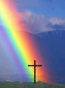 The rainbow and the cross both point to God's Promises to us.