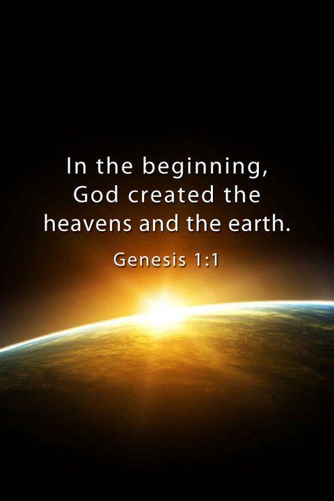 Genesis 1:1 - Feel Gods love - www.gods-love-net.com