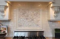 Beach tiles custom backsplash | Beachy | Pinterest