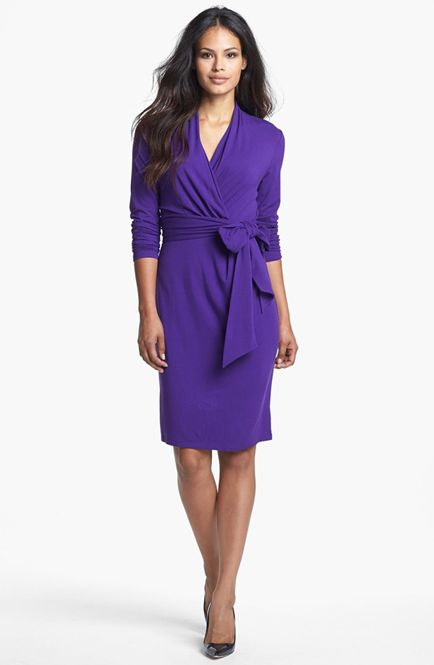 Jersey Knit Wrap Dress | Babble