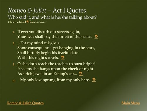 Romeo And Juliet Love Quotes And Meanings