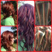 hair color fun. tricolor
