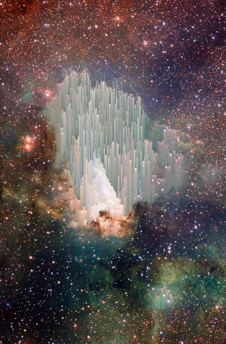 "Via Hubble: The cosmic ""ice sculptures"" of the Carina Nebula. Scientists are still trying to explain the beautiful spires."