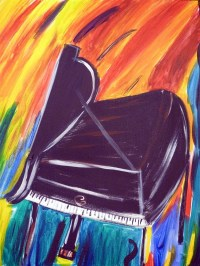 Funky Piano | Whimsical Painting | Pinterest