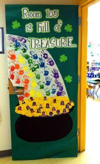 St Patrick's Day Door Decoration | Art activities | Pinterest