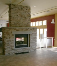 two way fireplace | For the Home | Pinterest