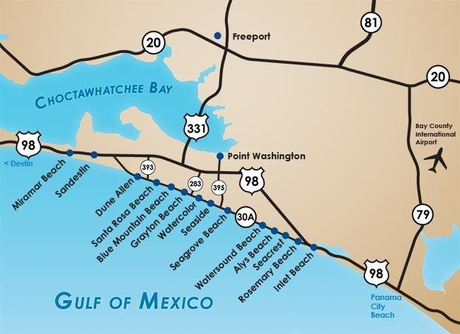 Rosemary Beach Florida Map.Seacrest Beach Seacrest Beach Fl Map Of West
