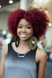 cute color natural hair styles