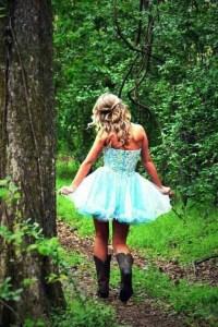 A tutu dress with cowboy boots | Prom dresses | Pinterest