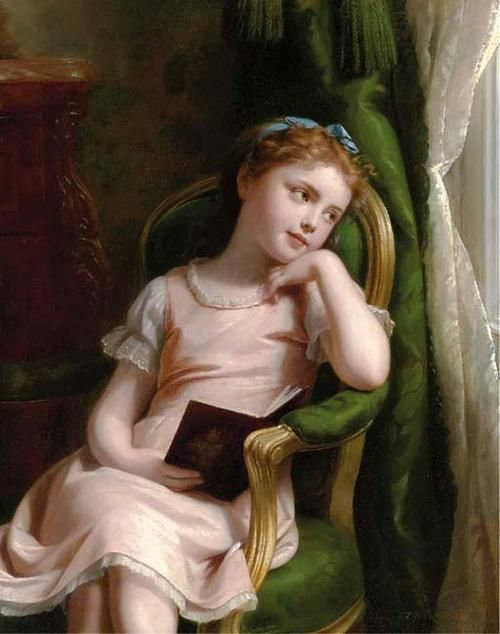 Daydreams. Fritz Zuber-Buthler (Swiss, 1822-1892). Oil on canvas.