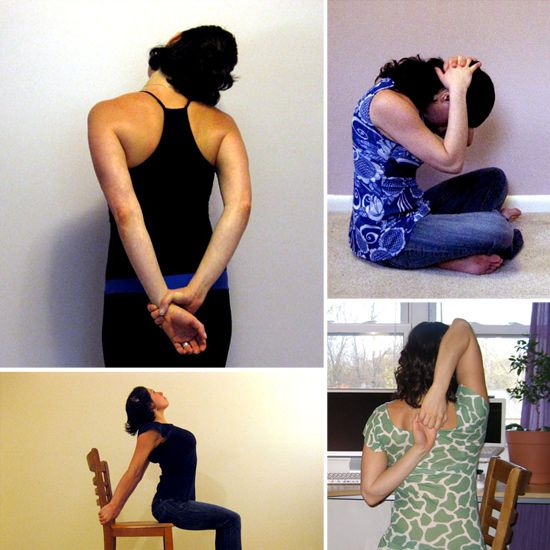 Stretches to Relieve Neck and Shoulder Tension--need this! That's exactly where my stress goes.